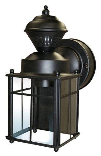 Heath/Zenith HZ-4132-BK 150-Degree Bayside Mission Style Motion Sensing Decorative Security Lantern, Black