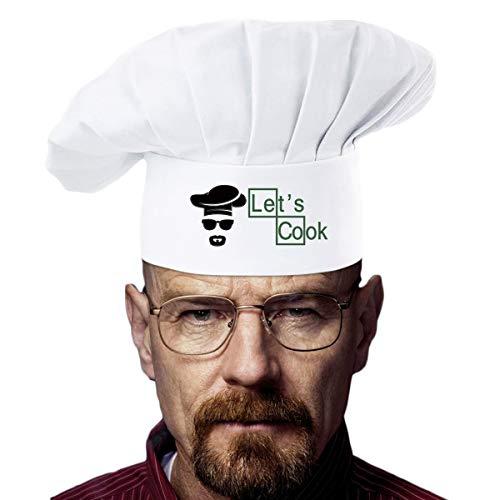 famgem Grill Schürzen Profi für BBQ, Backen, cooking- inspiriert trendiger Got Chef Geschenk Handwerk 100% Baumwolle, 3Taschen, verstellbares Umhängeband Lets Cook Chef Hat