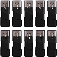 10-Pack PNY Attache 3 16GB USB 2.0 Flash Drive (Black) (P-FD16GX10ATT03-MP)