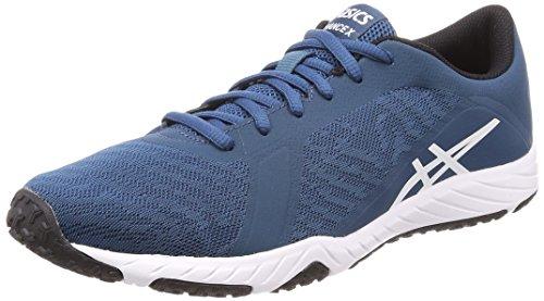 Asics Defiance X Heren Running Trainers S708N Sneakers Schoen (uk 7.5 us 8.5 eu 42, blue white black 4501)