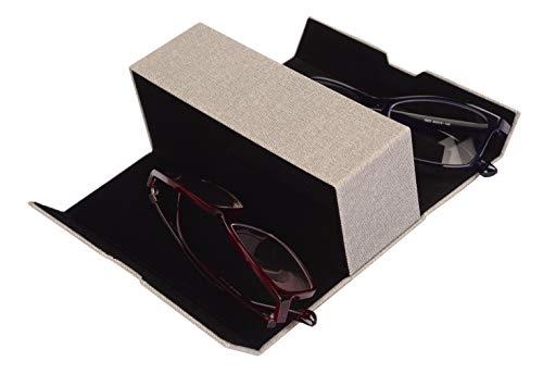 BiP Praktisches Brillenetui für 2 Brillen mit Magnetverschluss (hellgrau)