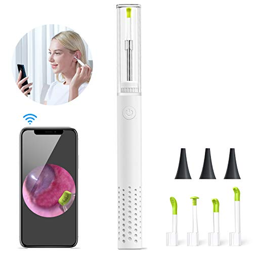 Ear Cleaning Camera,ScopeAround Ear Wax Removal with Camera, 3.9mm HD Earwax Removal Camera Ear Cleaner with Camera, 6 LEDs Ear Wax Removal, Otoscope with Light for iPhone, Android