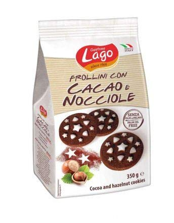 Lago 40% OFF Cheap Sale Cocoa and Hazelnut Cookies Fees free!! Pack 4 350g - of