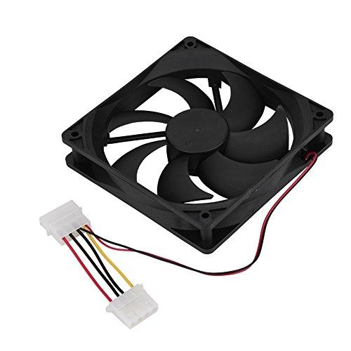 ASHATA Pc-ventilator, 120 mm geluidsarme pc-ventilator met hoge luchtstroom en laag stroomverbruik, 7 vleugels, sterke warmteafvoer voor desktop-pc, goed voor CPU-straling, Grote 4-polige interface