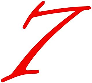 Set of 3 - Number 7 Style #52 Color: Seven Decal Sticker Color: red- Peel and Stick Vinyl Sticker