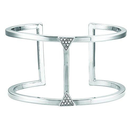 Buckley London Damen Armschmuck Messing rhodiniert mit Kristallen Messing Glänzend Kristall Silbergrau 430060072