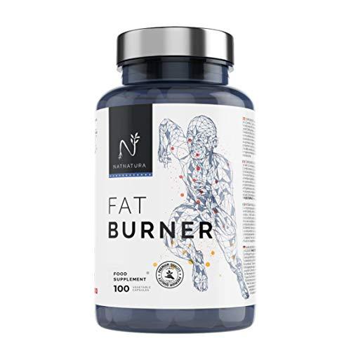 FAT BURNER Nº1. Potente quemagrasas natural alto rendimiento. Termogénico para adelgazar. Suplemento deportivo, quema grasa abdominal, supresor del apetito. 100 cápsulas vegetales alta concentración.