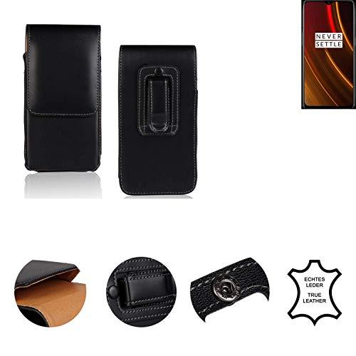 K-S-Trade® Holster Gürtel Tasche Für OnePlus 6T McLaren Edition Handy Hülle Leder Schwarz, 1x