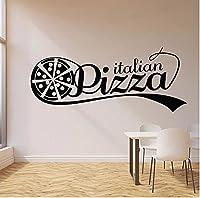 イタリアのピザロゴウォールステッカーホットフードストアピッツェリアおいしいレストランキッチンインテリアインテリアビニールウィンドウステッカームラ57x136cm