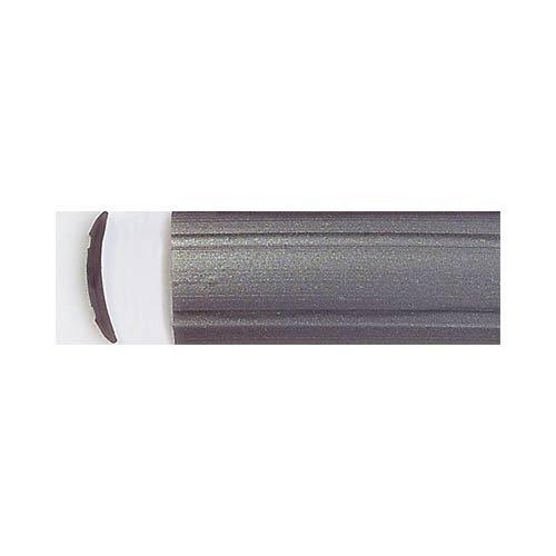 Leistenfüller uni silber 12 mm breit