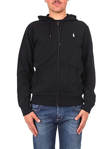 Polo Ralph Lauren Long Sleeve-Knit Chaqueta Deportiva, Negro (Polo Black 1018), L para Hombre