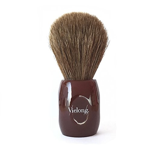 Vie-Long 12705 Horse Hair Shaving Brush, Red...