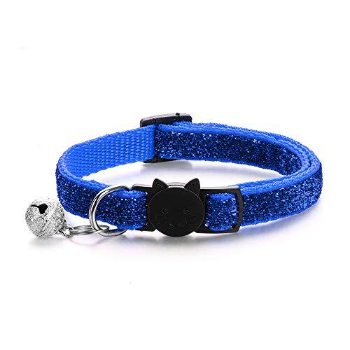 rooteroy shihao159 Braid gesp huisdier benodigdheden kat accessoires hond kraag ketting bel hanger kattenhalsbanden, Royal Blauw