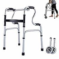 Andador Andadores para Ancianos Adultos Andador Plegable Para Adultos De 6 Pi...