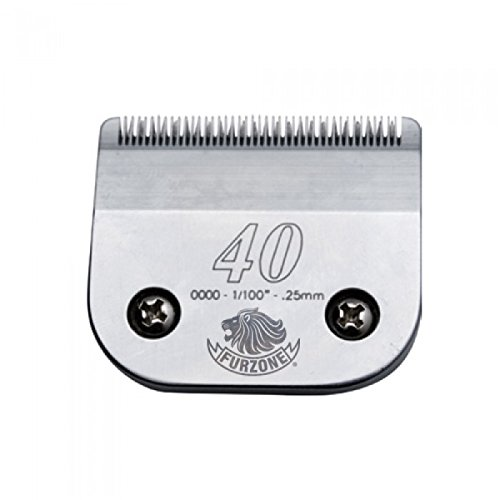 """3 EACH Furzone #40 1/100"""" - .25 mm barber beauty clipper blades compatible with Oster, Andis, Conair, Wahl, Laube, Thrive"""