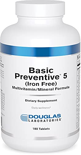 Douglas Laboratories - Basic Preventive 5 - Iron-Free Highly Concentrated Vitamin/Mineral/Trace Element Supplement with Antioxidants - 180 Tablets