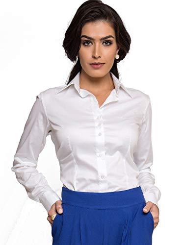 Camisa Social Feminina Branca Principessa Roberta