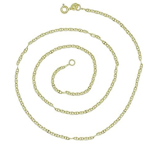 Cadena para Hombre y Mujer de Oro Amarillo de 18k modelo ancla de 2mm de ancha y 50cm de Larga, 2.65 gr de oro de 18k. Para llevar sola o con tus colgantes preferidos.