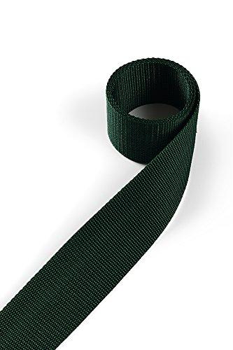 1buy3 Sangle en polypropylène 25mm de Largeur, 4 mètres de Longueur, Couleur: 20 - Vert Mousse | également 20mm, 30mm, 40mm ou 50mm de Largeur | en 4 ou 12 mètres | 30 Coloris