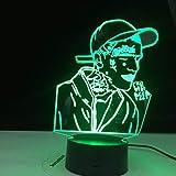 Rapero 3D LED multicolor celebridad fiesta noche luz ventilador regalo