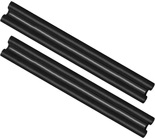 com-four® 2X Zugluftstopper für die Tür - Mikrofaser Türbodendichtung - Luftzugstopper mit Doppeldichtung - Schutz vor Luftzug und Lärm - 86 cm (002 Stück)