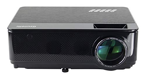 Gzunelic 6500 lumens Native 1080p LED Video Projector Built in HI-FI Stereo Sound Box Full HD Home Theater Proyector with 2 HDMI 2 USB VGA AV Multiple interfaces