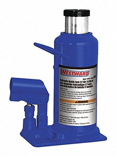 Westward Bottle Jack, Hydraulic, 12 Tons, 9-1/2in.L