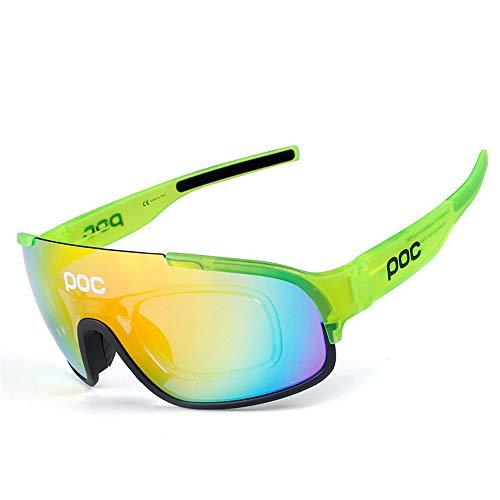 WOXING Polarizadas Ciclismo Gafas De Sol,Protección UV Clásico Gafas De Sol Deportivas,Antideslumbrantes Hombre Gafas,Deportivas Correr Pesca Conducir Mujere Viajes-H 15.3x5.7cm(6x2inch)