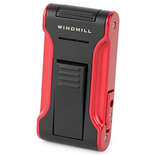WINDMILL(ウインドミル) ライター カタナ2 フラットフレーム 耐風仕様 ブラック×レッド W11-0003