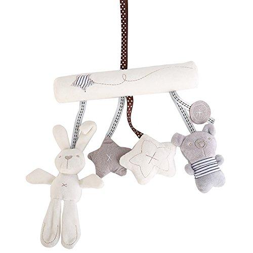 Kentop Baby Plüsch Hase Spielzeug Anhänger Mobile Bett Rasseln Einschlafhilfe Spielzeug Kinderwagen Spielzeug Aufhängen