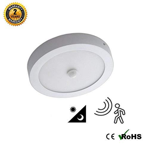 Plafón LED Superficie circular 20W con Detector de Movimiento Blanco Frio K6000