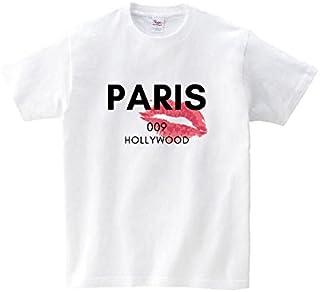 Lindwurm Tシャツ メンズ 半袖 おしゃれ ロゴT PARIS ハリウッド リップマーク セクシー HOLLYWOOD 海外 クルーネック Uネック ユニセックス 男女兼用 プリントTシャツ