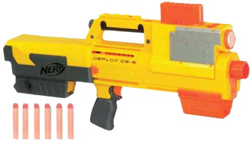 NERF N-STRIKE DEPLOY CS-6 WITH 2 EXTRA CLIPS AND 12 EXTRA DARTS