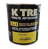 Vernice a Smalto + Antiruggine da 0.750ml colore Giallo Traffico a solvente (Marrone Terracotta)
