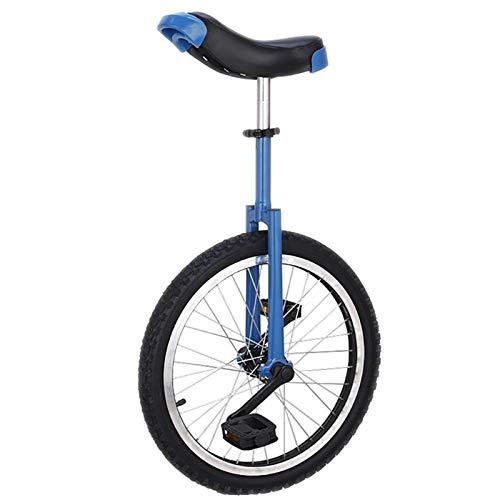 Einrad 20-Zoll-Rad Kinder/Anfänger Einrad, 10/12/14/15 Jahre Alt Männlich Teenager/Jungen Balance Cycling, Mit Alufelge & Ständer, für Spaß Fitness (Color : Blue)