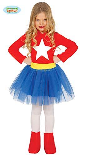 Guirca-83213 Capitán América Disfraz 5-6 años Supergirl, Multicolor (83213)
