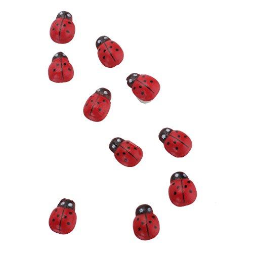 merssavo 100 Pcs Rouge Ladybird Poupée Petite Rouge Décoration de jardin coccinelle