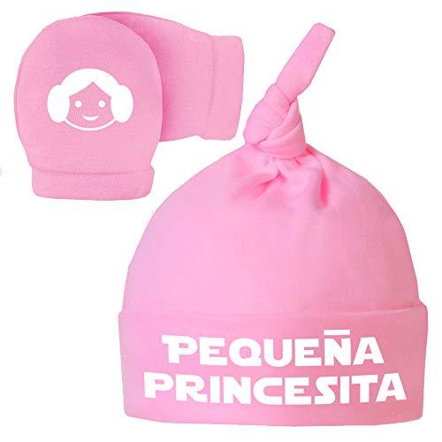 Pack Gorro Manoplas recién Nacido. Pequeña princesita