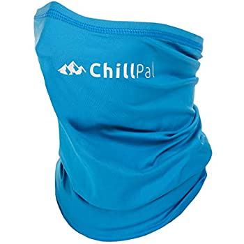 Chill Pal Neck Gaiter Face Mask Cooling Towel  Blue Full Size