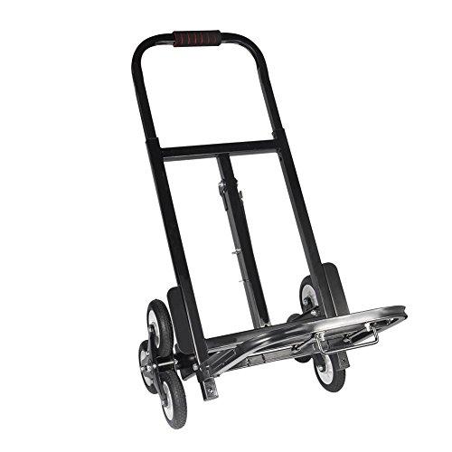 Carretilla Plegable Subir Escaleras con 6 Ruedas de Goma Maciza, Carro Escaleras Portátil, Carga 330 Libras/150kg