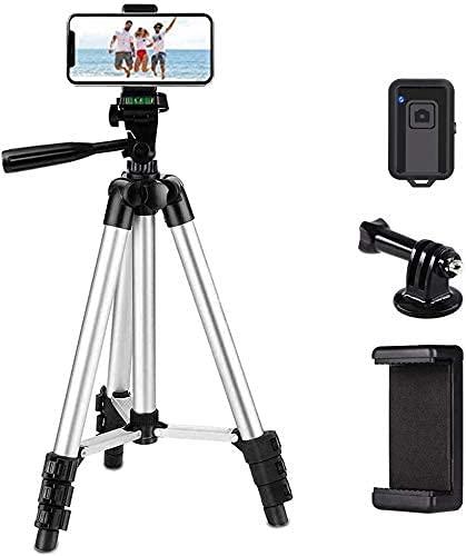 GGSJZ , Linkcool - Trípode portátil de aluminio ligero de 42 pulgadas para iPhone/Samsung/Smartphone/cámara de acción/cámara DSLR con soporte para teléfono