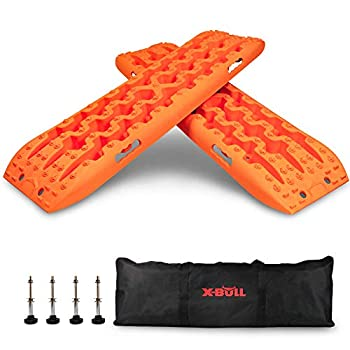 X-BULL New Recovery Traction Tracks Sand Mud Snow Track Tire Ladder 4WD  Orange 3gen