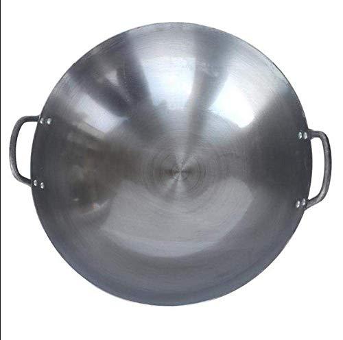 WRMIGN Wok de acero al carbono antiadherente de la escuela de Wok, 40cm