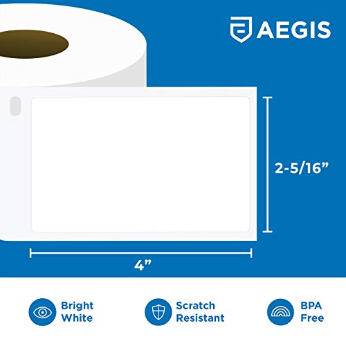 """Aegis - Compatible 30256 (2-5/16"""" X 4"""") Direct Thermal Labels Replacement for DYMO 30256 Shipping - for Rollo, Labelwriter 450 Turbo, 4XL, Zebra Desktop Printers (8 Rolls) Photo #2"""