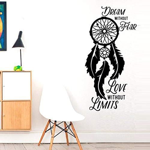 Pegatinas de pared, sueño sin patrón, pegatinas de pared para sala de estar, decoración del hogar, calcomanías de vinilo, póster artístico para dormitorio, murales 56x119cm