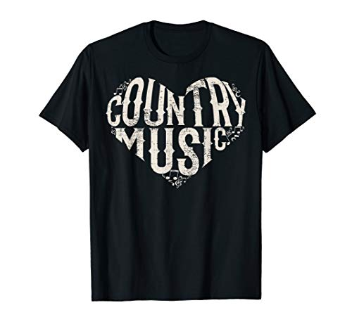 I Love Country Design Country Music Lover Gift Idea T-Shirt