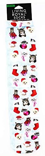 Living Royal Christmas Kitties Knee High Socks