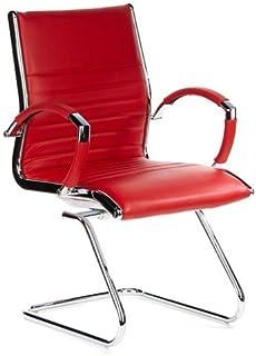 hjh OFFICE 660535 silla de confidente PARMA V cuero rojo,