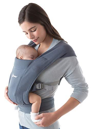 Ergobaby Embrace Babytrage für Neugeborene ab Geburt Extra Weich, Bauchtrage Baby-Tragetasche Ergonomisch, Oxford Blue