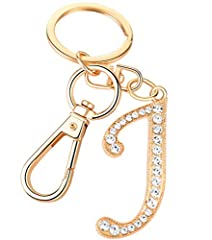 Package Included:1 x Initial letter pendant bag charm Total length 4 inches,Letter size 1.40x1.0 inches Material: Gold plated alloy handbag accessories with crystal rhinestone Show off your unique style with our AlphaAcc new trendy purse charm keycha...